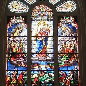 Vitrail de l'église de la Guérinière